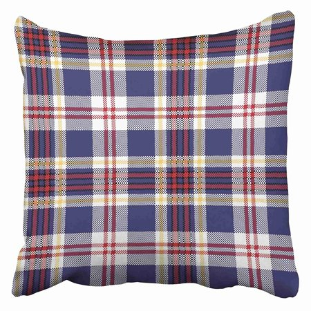 Diagonal Checkered Snap (ARHOME Red Abstract Blue Tartan Plaid Check Celtic Checkered Christmas Classic Color Diagonal Pillow Case Cushion Cover 18x18)
