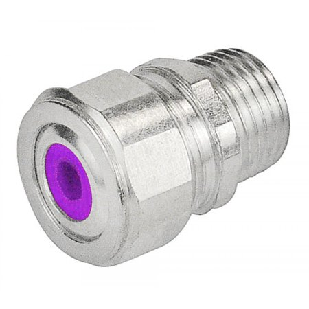 2 Pcs, 3/4 In. Purple Cord Grip Strain Relief Connector Used to Secure & Seal Cords Or Cables Entering Enclosures Or Raceways