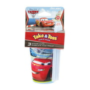 The First Years Take & Toss Disney Pixar Cars Straw Cups 18M+ - 3 CT