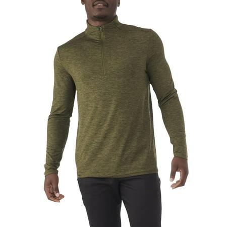 Russell Men's and Big Men's 1/4 Zip Pullover Jacket, up to 5XL Marker Active Zip