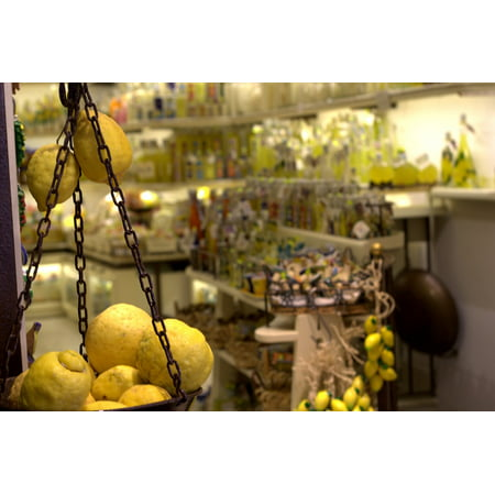 LAMINATED POSTER Store Limoncello Lemon Amalfi Coast Juicy Fruit Poster Print 24 x