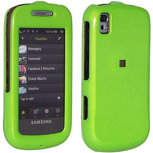 Premium Polished Neon Green Snap On Hard Shell Case for Samsung Instinct s30 SPH-M810, Sprint Samsung Instinct s30