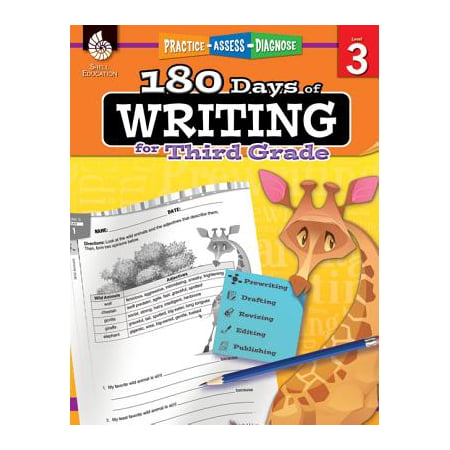 180 Days of Writing for Third Grade (Grade 3) : Practice, Assess, Diagnose](Halloween Writing Activities For 3rd Grade)