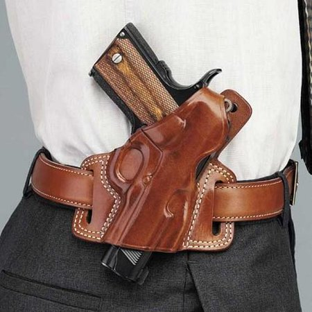 galco sil225 tan left hand silhouette belt leather holster for glock