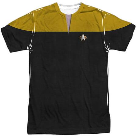Star Trek Men's  Voyager Engineering Uniform Sublimation T-shirt White (Star Trek Uniform Buy)