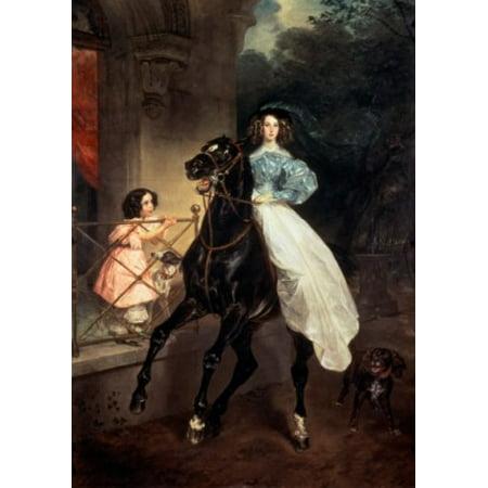 Horsewoman Karl Pavlovic Briullov Tretyakov Gallery Moscow Russia Poster Print