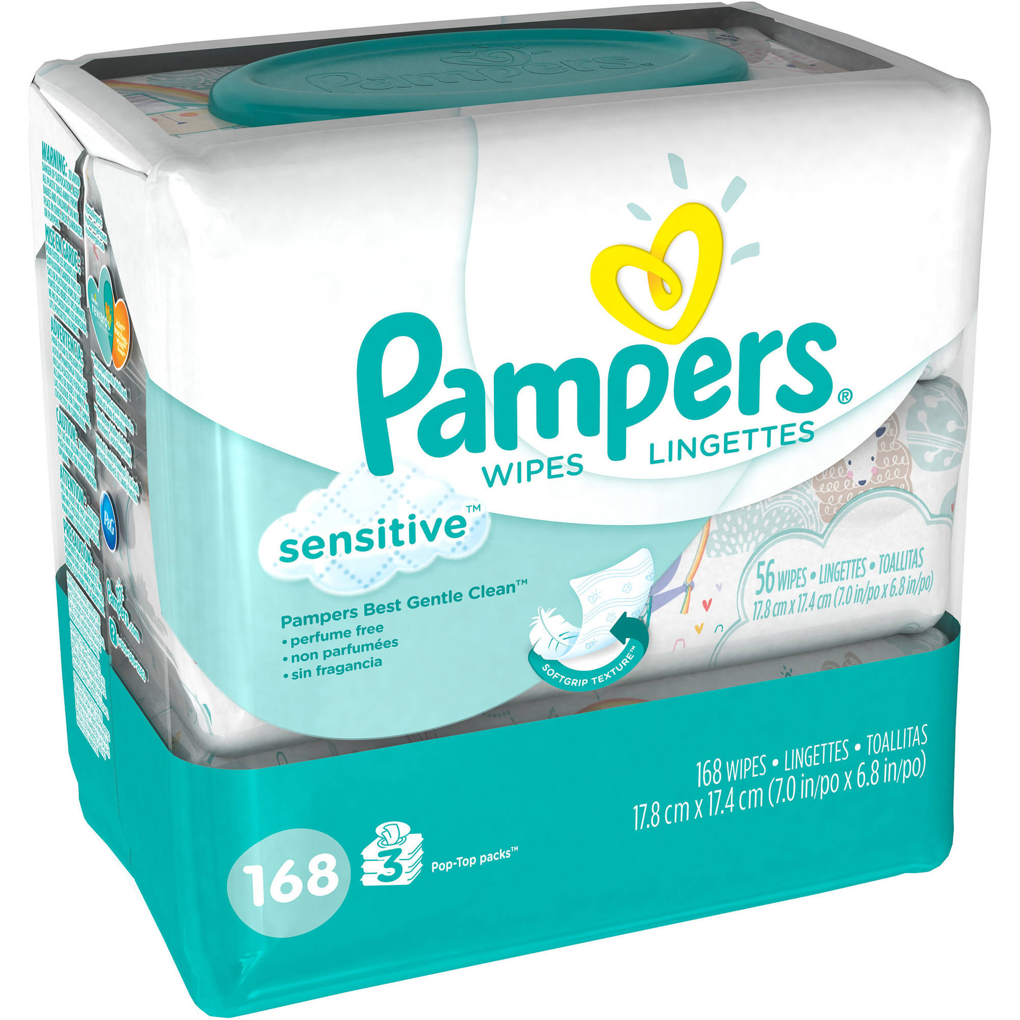Pampers Sensitive Baby Wipes, 168 sheets