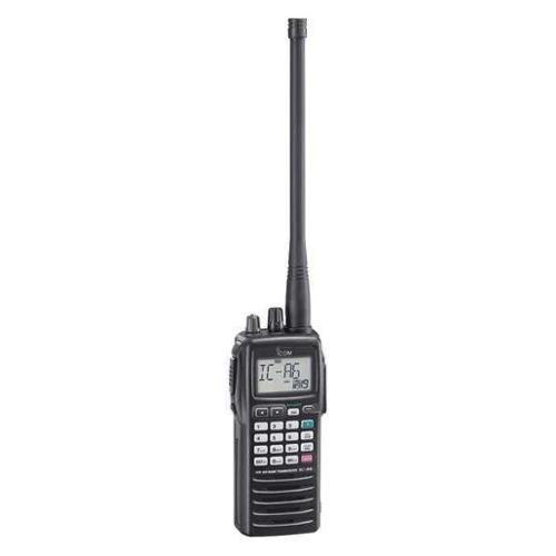 Icom Porta Two Way Radio,8.33 kHz,5W, A6