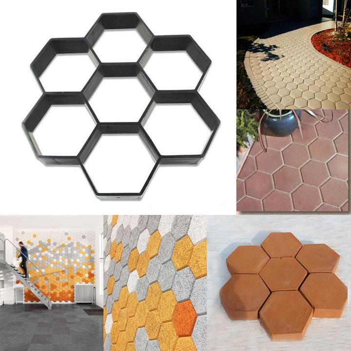 Costyle Garden DIY Driveway Paving Brick Stone Mold Slabs Path Walk Maker Mould
