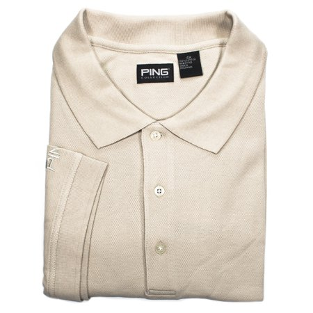 Ping Apparel Mens 4Xl Bisque Short Sleeve Golf Polo Shirt Nwt   P220nbe Cotton
