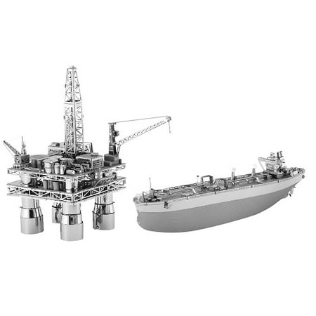 Metal Earth Off Shore Oil Rig and Oil Tanker Gift Set (MMG105)