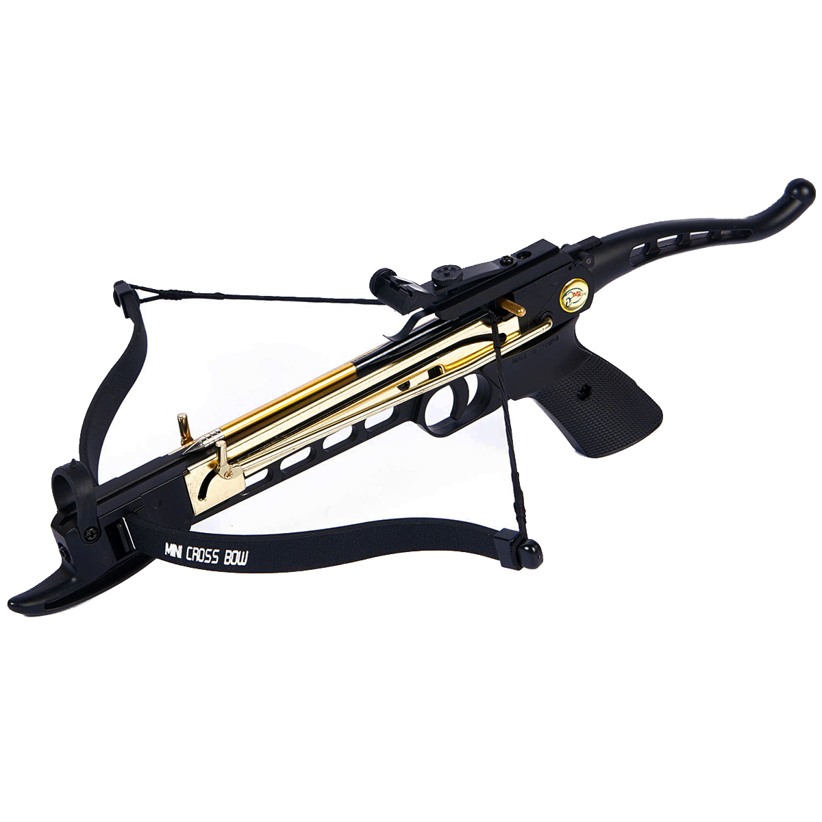 iGlow 80 lb Black / Camouflage Aluminum Self Cocking Hunting Pistol Crossbow Archery Bow +15 Bolts / Arrow +2 Strings 50