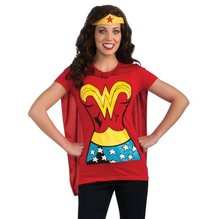 MyPartyshirt Women's Wonder Woman T-shirt Costume - Wonder Woman Costume T Shirt