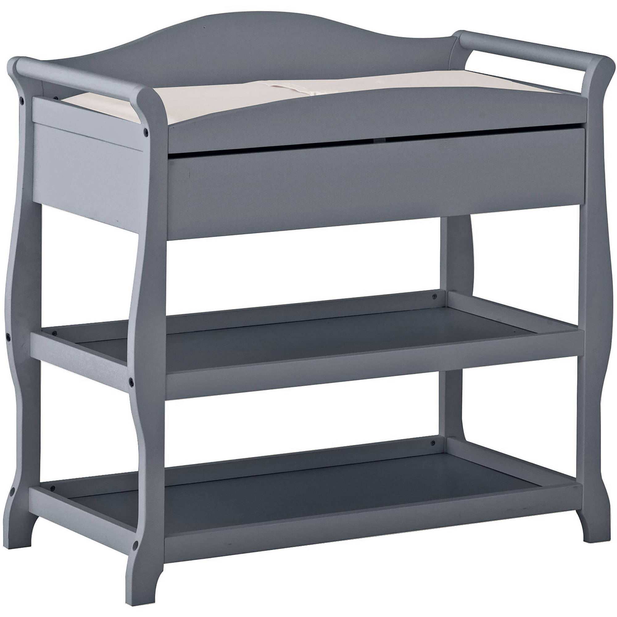 Storkcraft Aspen Changing Table with Drawer Gray