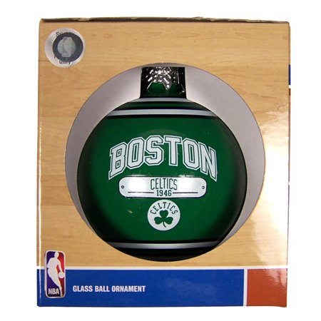 Boston Celtics Official NBA 3 inch x 3 inch 2014 Year Plaque Christmas Ball Ornament by Forever Collectibles