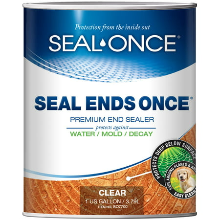 SEAL ENDS ONCE Wood End Sealer, 1 Quart, Use on Cut Ends of Decks - Ipe, Cedar,