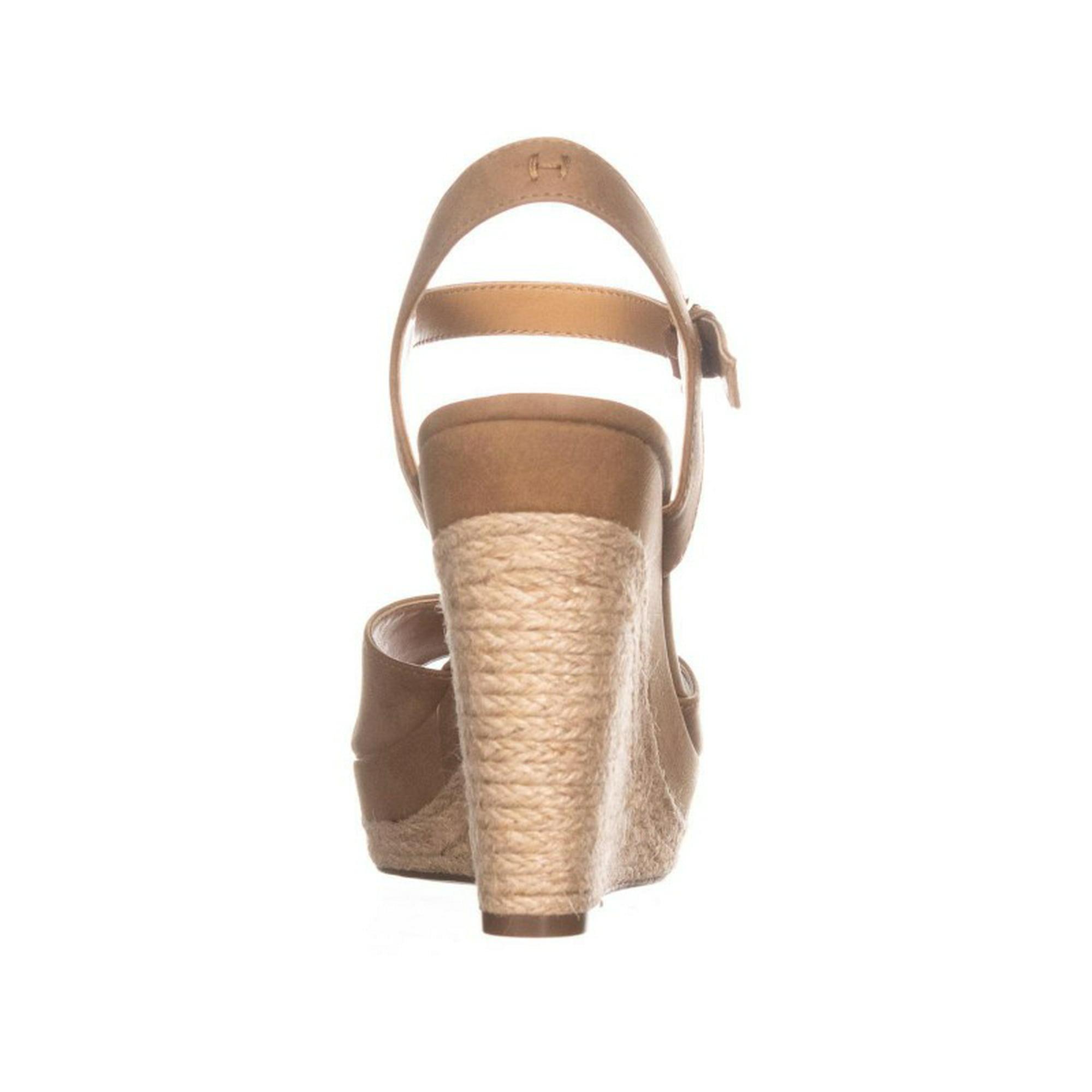 e05caaab Womens Tommy Hilfiger Kali Peep Toe Wedge Sandals, Medium Brown | Walmart  Canada
