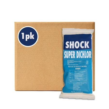 1lb Swimming Pool Fast Dissolving Shock 99% Sodium Dichlor