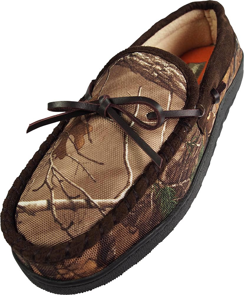 Northern Trail - Mens Realtree Camouflage Moccasin Slipper - 30 Day Guarantee - FREE SHIPPING