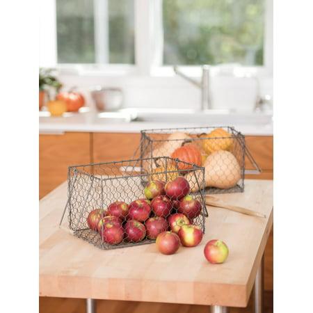 Rectangular Galvanized Chicken Wire Basket ()