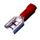 Morris Products 10324 Vinyl Insulated Female Disconnects - 16-14 Wire,.03 2 X.250 Tab, Pack Of 100