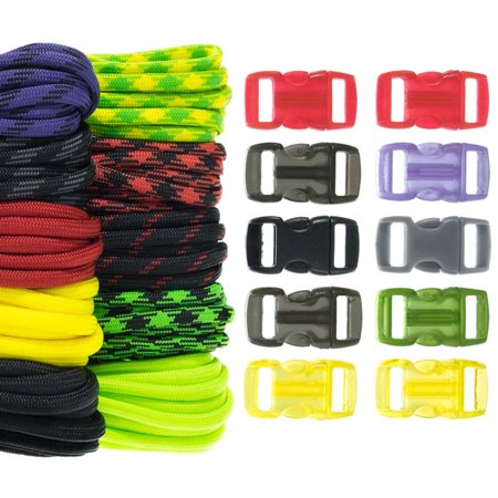 Craft County 550 Paracord Combo Crafting Kit with Buckles](Paracord Bracelet Kit)