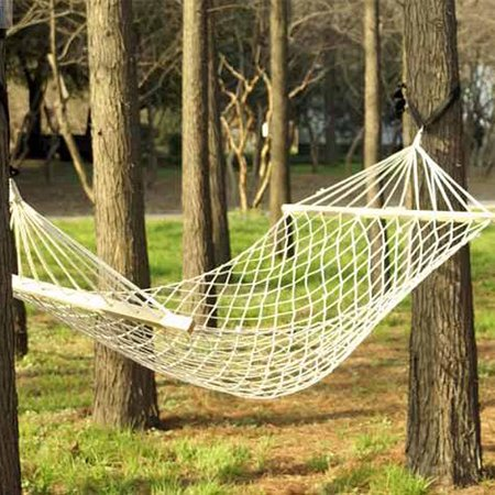 Double Hanging - Zimtown Outdoor Camping Double Cotton Hammock with FREE Hanging Hardware