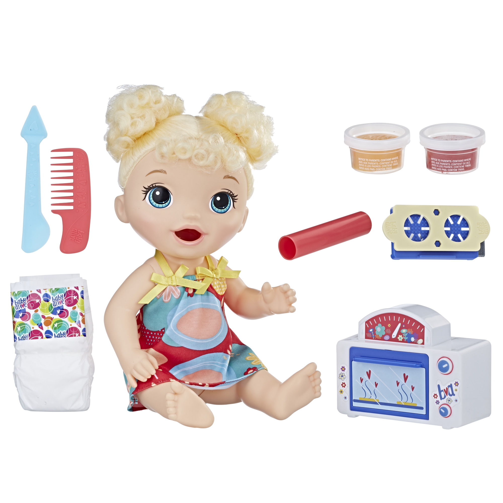Baby Alive Snackin' Treats Baby (Blonde Curly Hair)