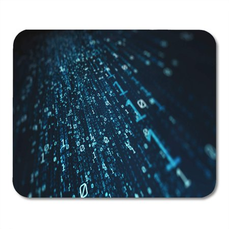 KDAGR Data 3D Blue Bytes of Binary Code Flying Through Vortex Depth Field Science Mousepad Mouse Pad Mouse Mat 9x10