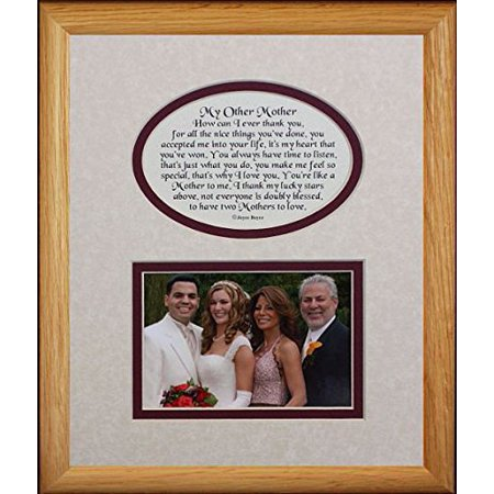 8X10 My Other Mother Picture & Poetry Photo Gift Frame ~ Cream/Burgundy Mat ~ Heartfelt Keepsake Picture Frame For A Mother In Law, stepmother For Christmas, Birthday Or