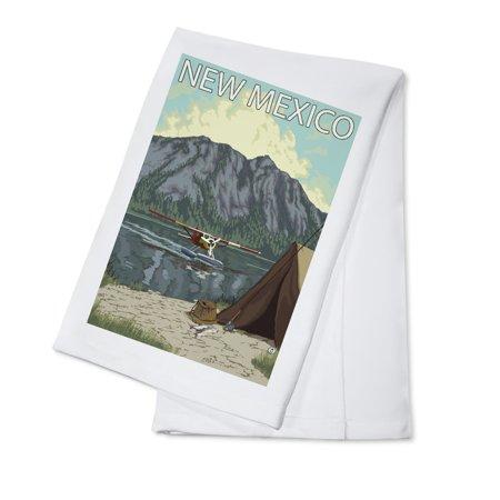 Mexican Bush - Bush Plane Fishing - New Mexico - LP Original Poster (100% Cotton Kitchen Towel)