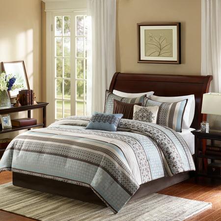 Jacquard 7 Piece Set - Home Essence Cambridge 7 Piece Jacquard Comforter Set