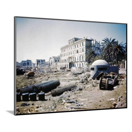 War-Ravaged Streets of Anzio Wood Mounted Print Wall Art