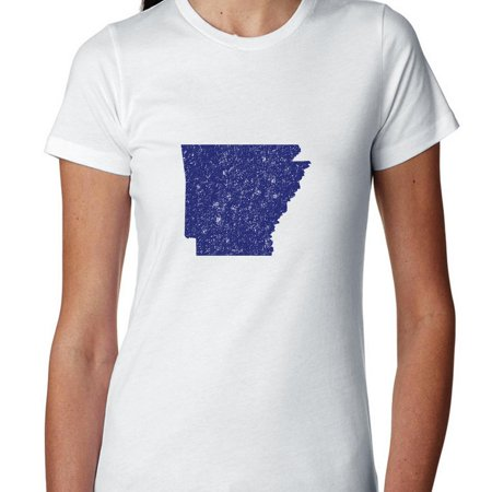 Arkansas Blue Democratic   Election Silhouette Womens Cotton T Shirt