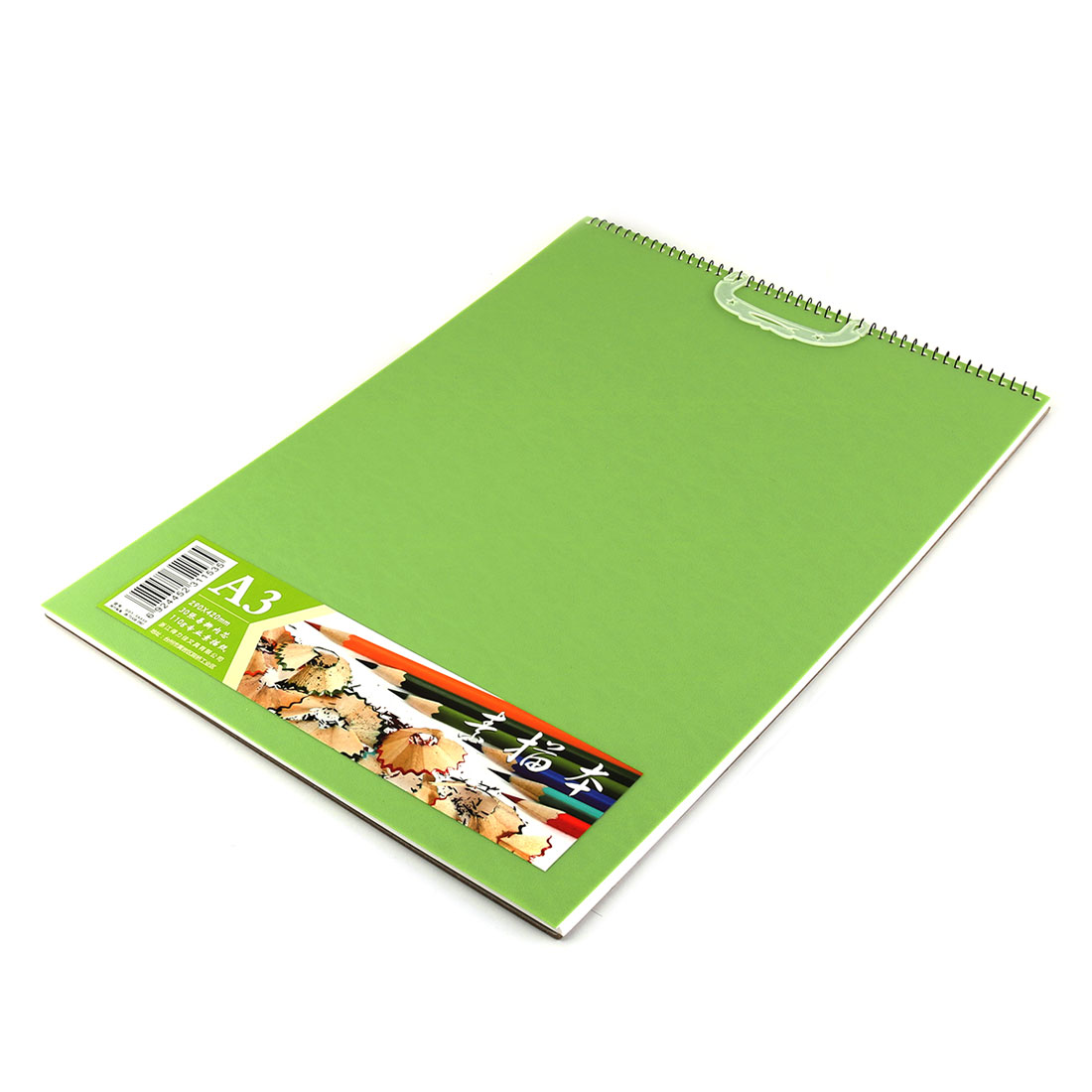 Delijia Authorized Spiral Bound Coil Drawing Paper Notepad Sketch Book Green