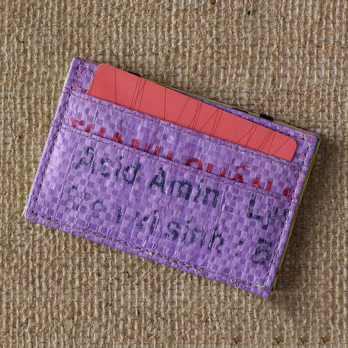 Recycled Rice Paper Flip Wallet by Nomi Network for Full Circle Exchange