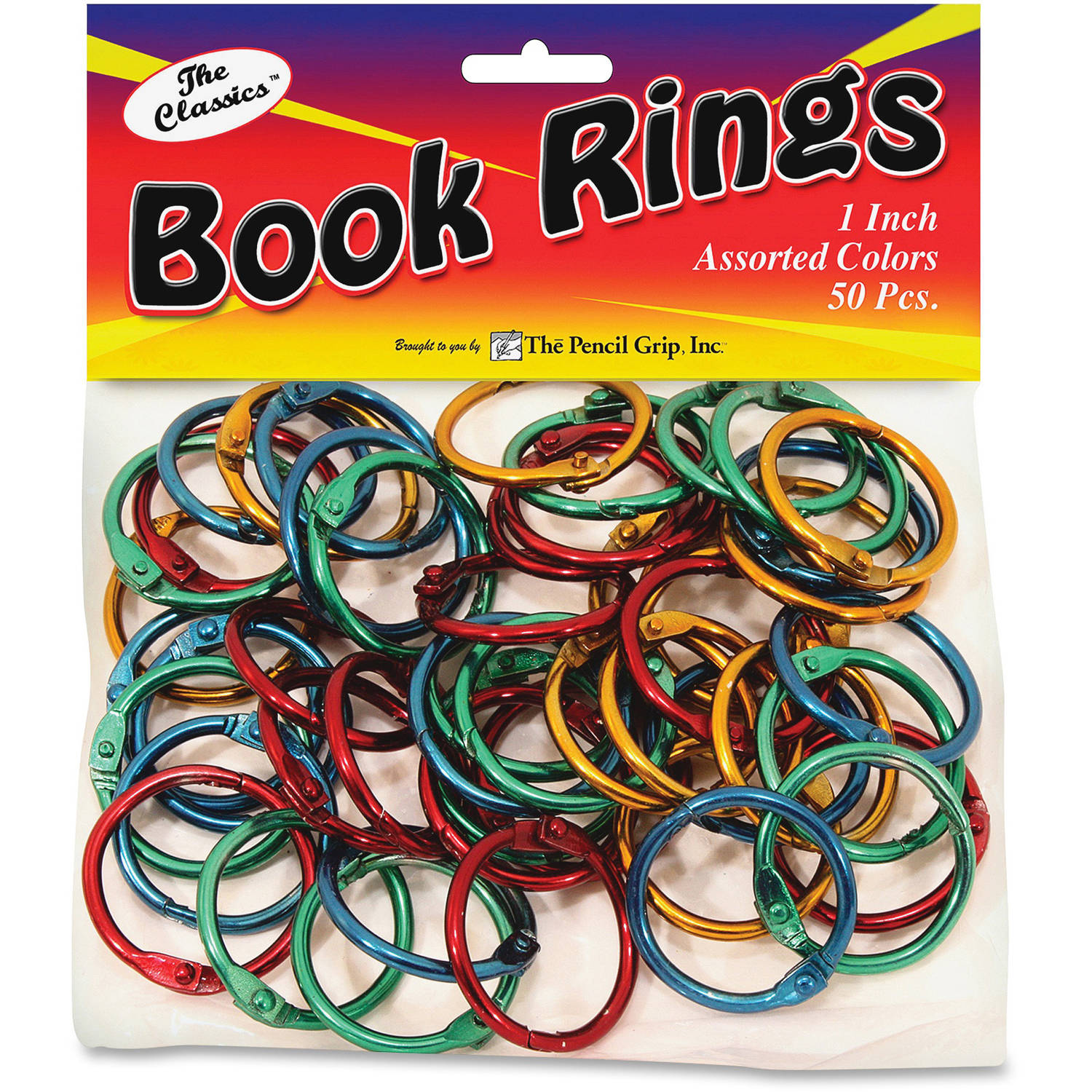 The Pencil Grip Color Book Rings, Pack of 50, Metallic