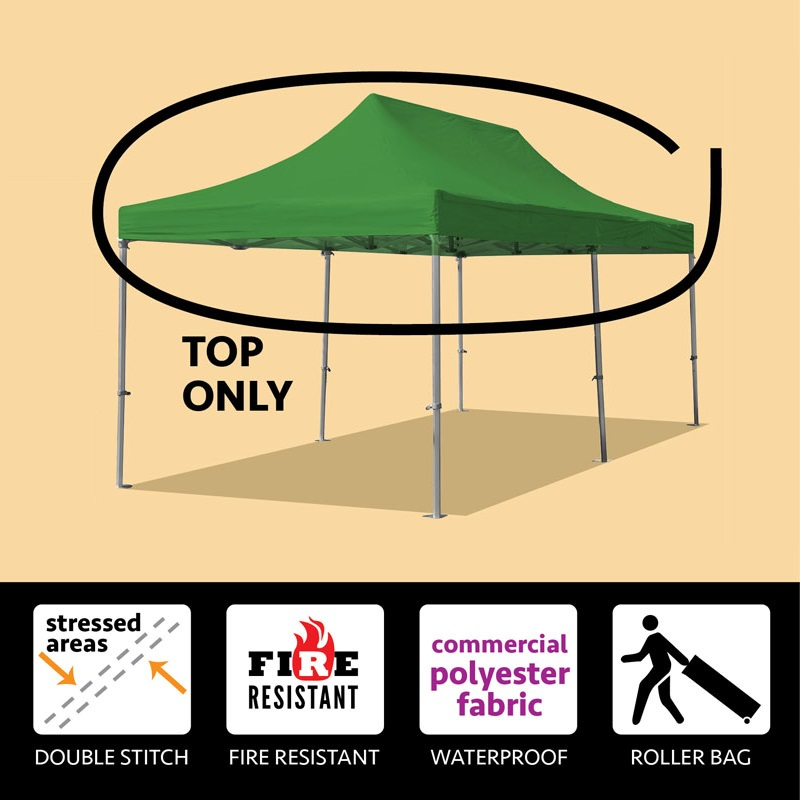 Party Tents Direct 10x20 40mm Speedy Pop Up Instant Canopy Event Tent Top ONLY, Various Colors