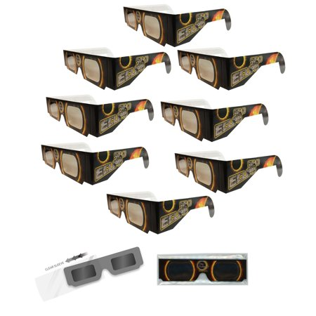 Solar Eclipse Glasses   Solar Fire   8  Sleeved Iso Certified  Ce Approved