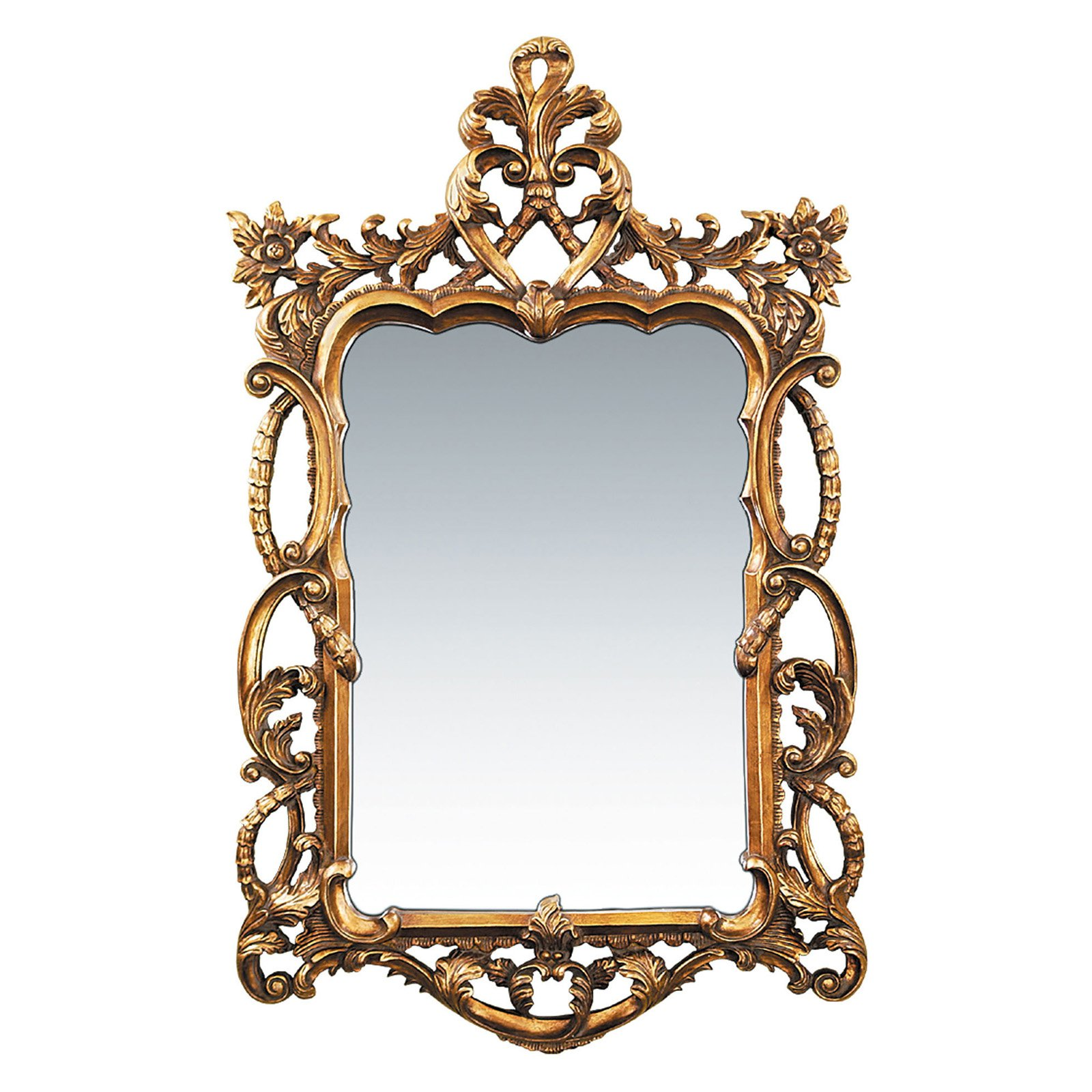 Sterling Floral Scroll Wall Mirror - 29W x 48H in.