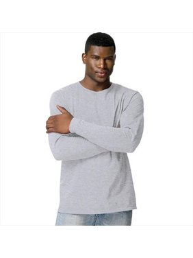 8d824506 Sold & shipped by UnbeatableSale. Product Image 498L Tagless Nano-T Mens  Long-Sleeve Tee, 3X - Light Steel