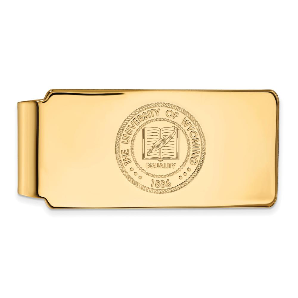 Wyoming Money Clip Crest (Gold Plated)