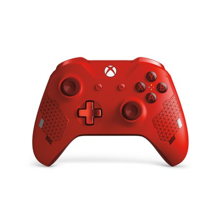 Microsoft Xbox One Wireless Controller, Sport Red Special Edition, WL3-00125