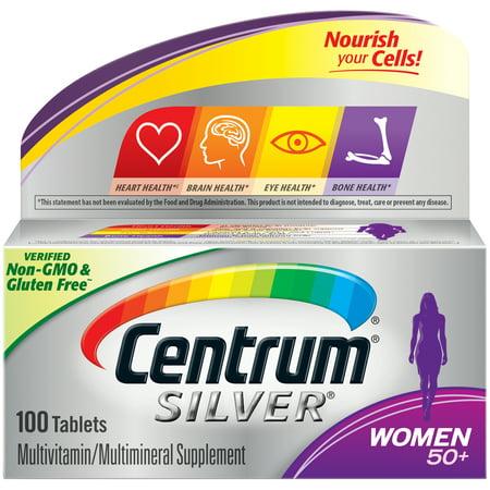 Centrum Silver Women 50+ Multivitamin Tablets, 100 ct Multivitamin 100 Tabs