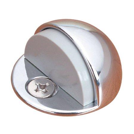 Brass Door Stop Chrome Dome Floor Mount Bumper Low Profile Screws (Low Dome Door Stop)