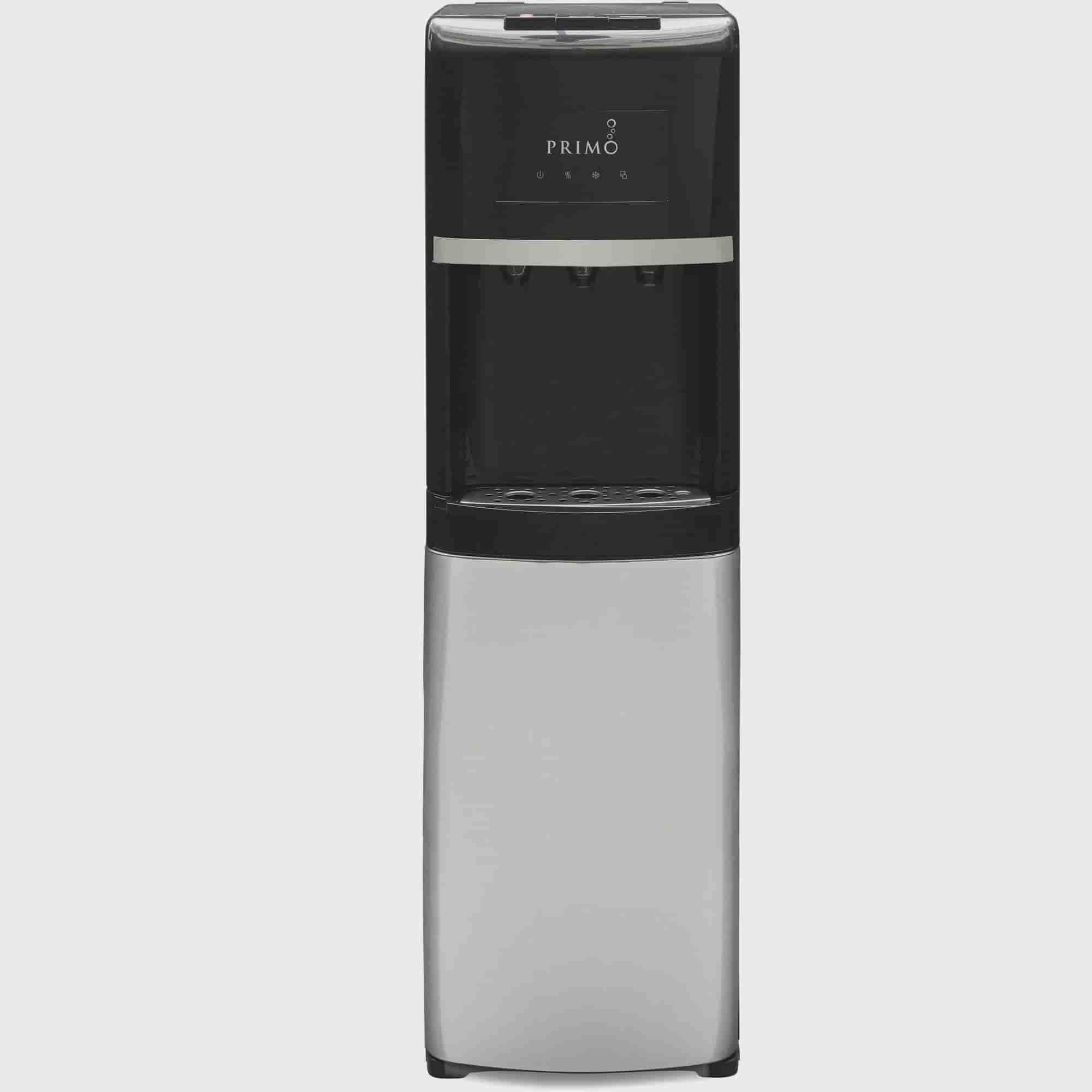 Primo Bottom Load Water Dispenser Stainless Steel Black