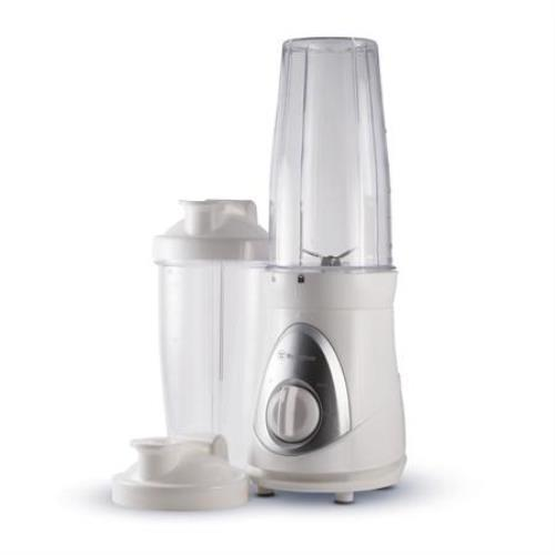 Westinghouse WBL201W New Smoothie Blender with 2 Blending Cups and Travel Lids, White