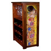 """""""The Kiss"""" by Klimt Wine Cabinet"""