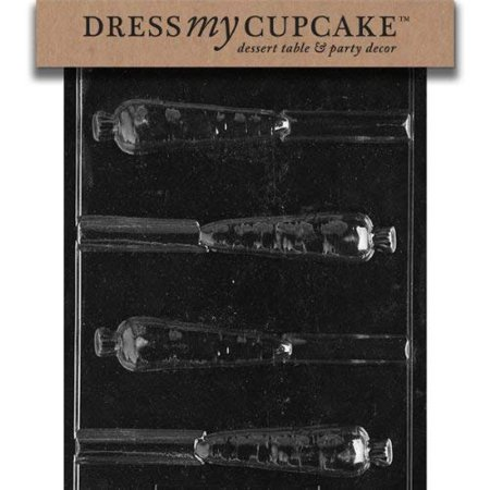 Dress My Cupcake Chocolate Candy Mold, Carrot Pretzel, Easter