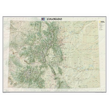 National Geographic Maps Colorado State Wall Map